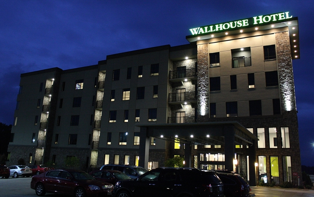 The Wallhouse Hotel nighttime exterior